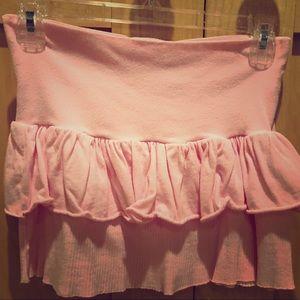 Rampage Swim fold over waistband skirt